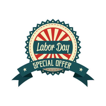 offerta speciale: Festa del Lavoro offerta speciale etichetta