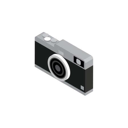 three dimensional: Three dimensional camera Illustration