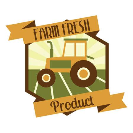 farm fresh: Farm etichetta del prodotto fresco