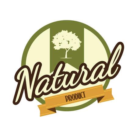 productos naturales: Etiqueta del producto natural Vectores