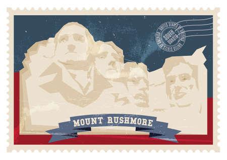 mount rushmore: Mount rushmore poster Illustration