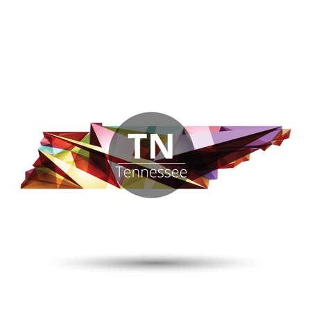 tennesse: Baja mapa poli del estado de Tennessee