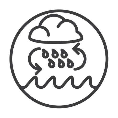 ciclo del agua: Concepto del ciclo del agua