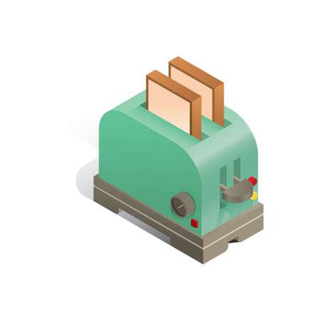 Three dimensional toaster