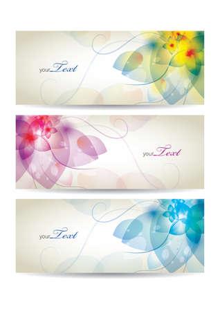 copyspaces: Floral banners