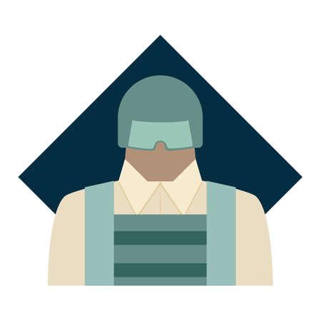 eyeglasses: Man wearing eyeglasses Illustration