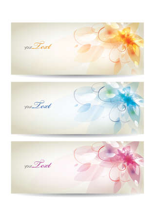 flower banner: Floral banners