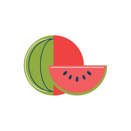 basic food: Watermelon Illustration