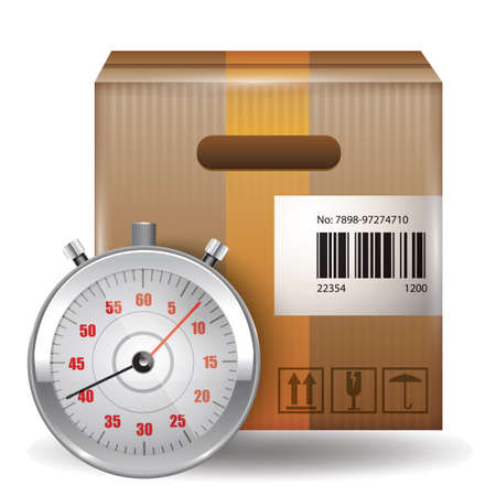 timely: Stopwatch with cardboard box