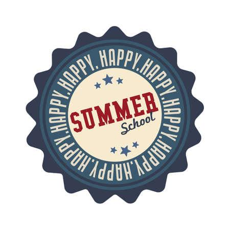 happy summer: Happy summer school label