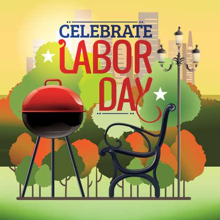 Celebrate labor day Illustration