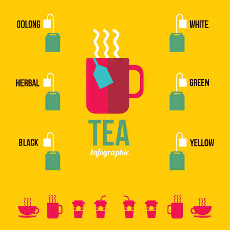 oolong: Infographic of tea Illustration
