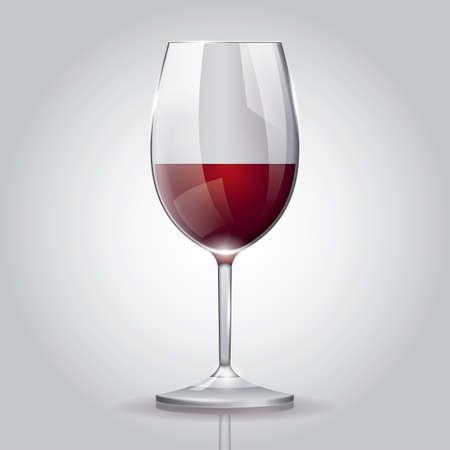 赤ワインのガラス