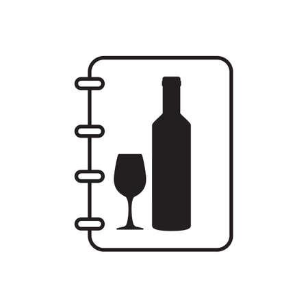 wine menu: Wine menu Illustration