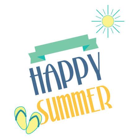 happy summer: Happy summer Illustration