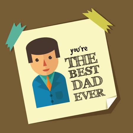 sticky note: Fathers day sticky note