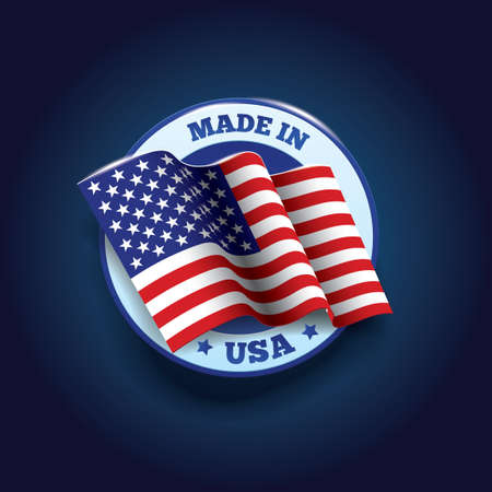 Made in usa label Banco de Imagens - 43305575