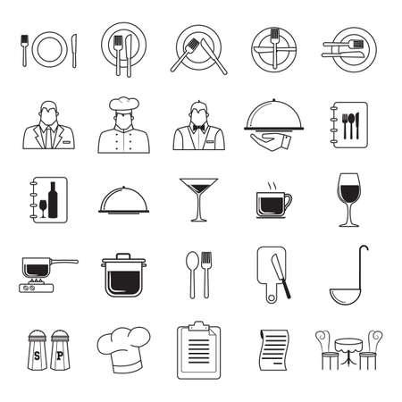 restaurant icons: Set of restaurant icons Illustration