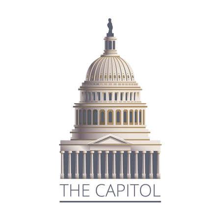US Capitol gebouw Vector Illustratie