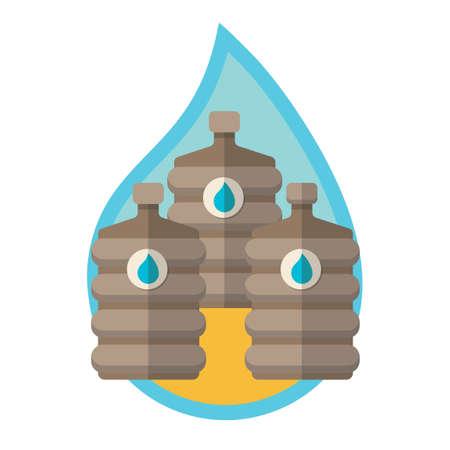 mineral water bottles: Big water bottles