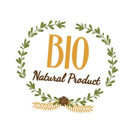 productos naturales: etiqueta de producto natural bio