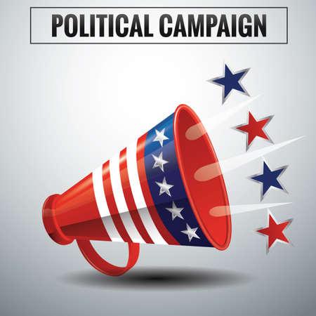政治的なキャンペーン  イラスト・ベクター素材