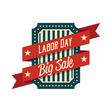 big sale: Labor day big sale label Illustration