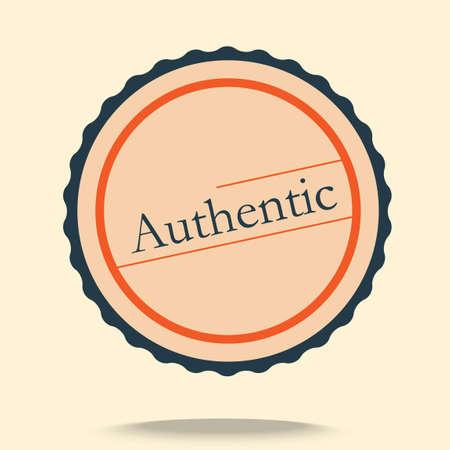 authentic: Authentic label Illustration