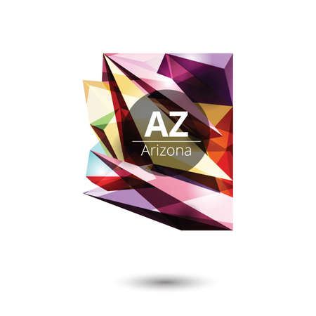 state of arizona: Low poly map of arizona state