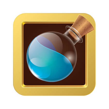potion: Bottle of magic potion Illustration