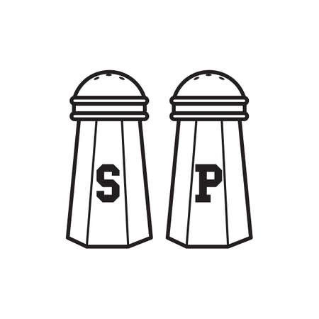 salt shaker: Salt shaker and pepper shaker Illustration