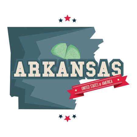 arkansas: Arkansas map with diamond mine