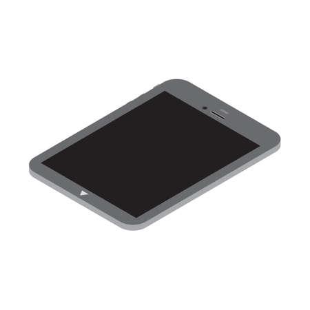 computador tablet: Three dimensional tablet computer Ilustração