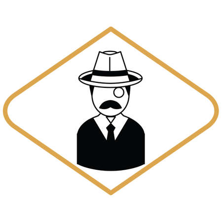 monocle: Man with monocle Illustration