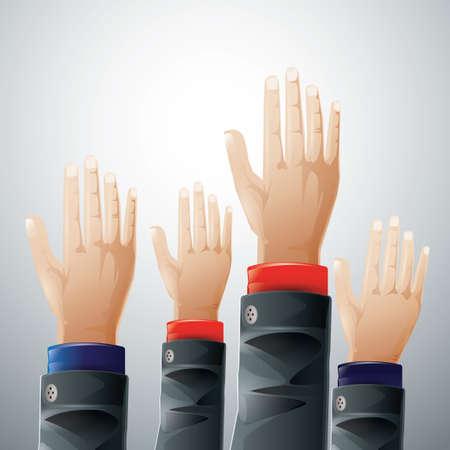 polling: Hands raising