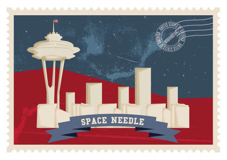 space needle: Space needle poster