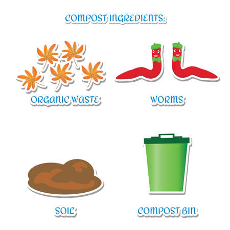 compost: Compost ingredients Illustration