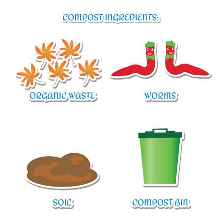 compost: Compost ingredients Illustration