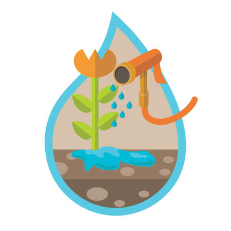 gardening hoses: Watering plant