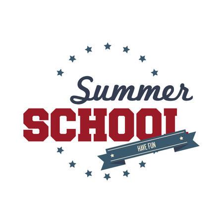 summer school: Summer school text Illustration