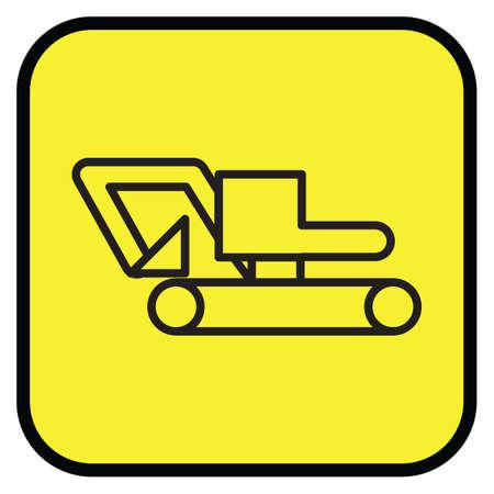 transportation icons: Excavator machine icon