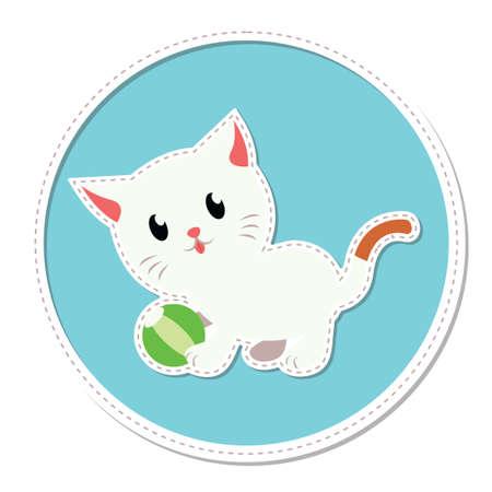 gato jugando: Gato que juega con la bola