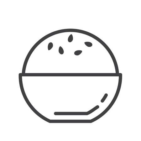 reis gekocht: Schale von Reis