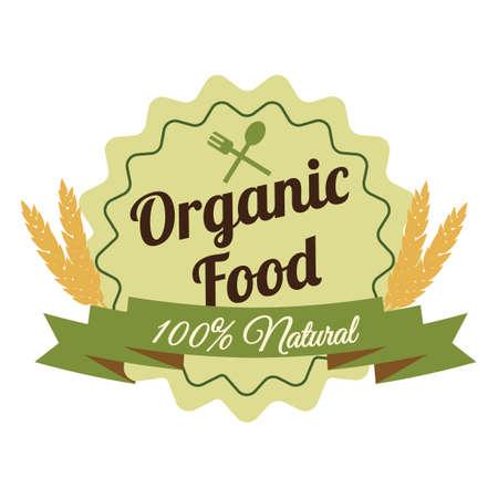 percentage: Hundred percentage organic label Illustration