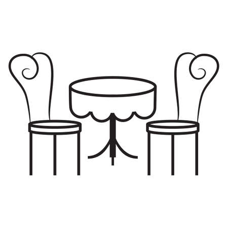 dining: Dining table and chairs Illustration