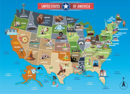 American States Maps Royalty Free Cliparts Vectors And Stock
