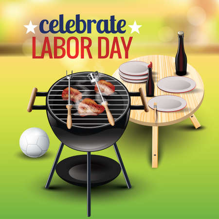 Celebrate labor day Illustration