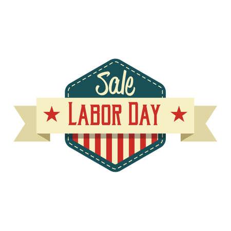 Sale labor day label Illustration