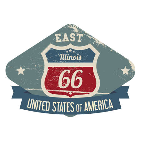 east: East illinois route 66 label
