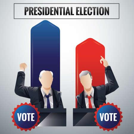 presidential: Presidential election Illustration